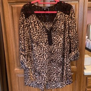 Cheetah Print Shirt Sz- 2x
